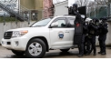 Armored SUV for counter-terror team