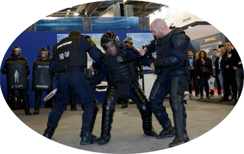 Exhibitor live demonstration area - Milipol Paris 2015