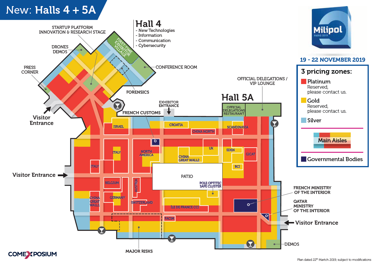 Milipol Paris 2019 Sales Floor Plan