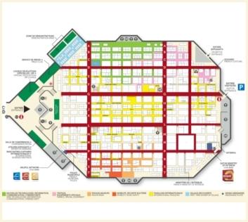Milipol Paris 2017 interactive floor plan