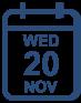 Programme Wednesday 20 November