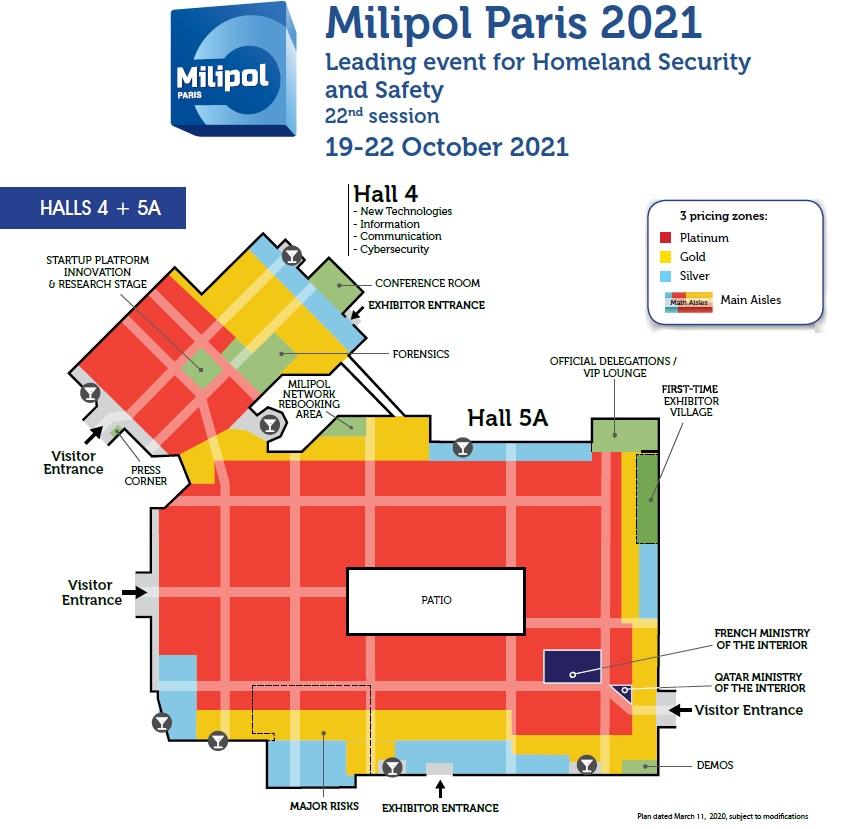 Milipol Paris 2021 Sales Floor Plan